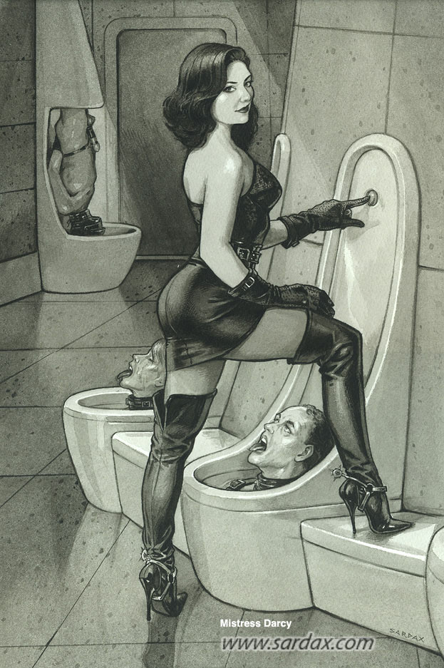 Раб в туалете женщин — pic 14